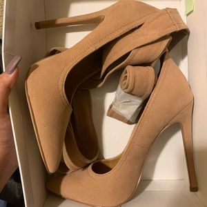 Nude heels with strap